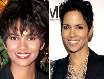 halle berry nose job before and after photos