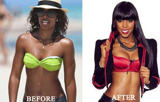 kelly rowland plastic surgery breast implants before and after photos