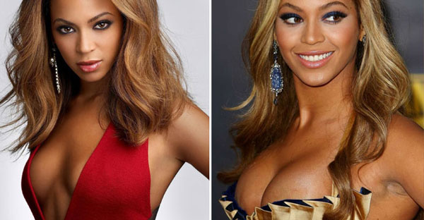 Beyonce Knowles plastic surgery before after photos, beyonce breast enlargement, beyonce breast implants, beyonce boob job