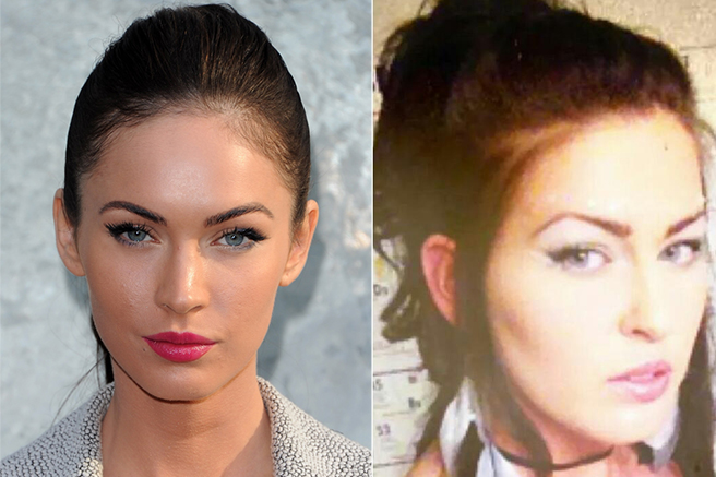 megan-fox 10 Celebrities Look Alike - Doppelgangers