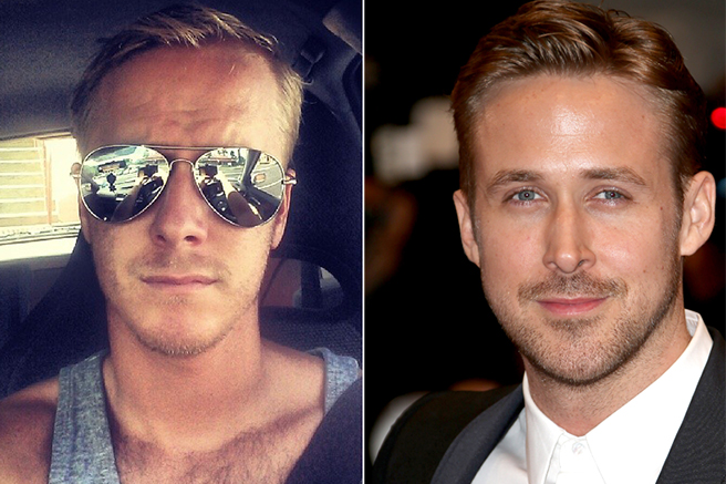 ryan-gosling 10 Celebrities Look Alike - Doppelgangers