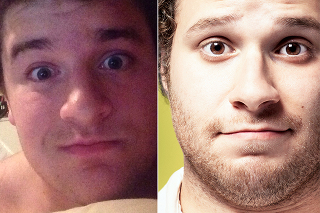 seth-rogen 10 Celebrities Look Alike - Doppelgangers