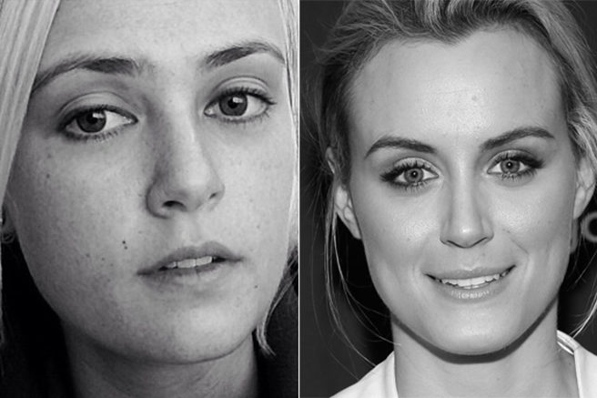 taylor-schilling 10 Celebrities Look Alike - Doppelgangers