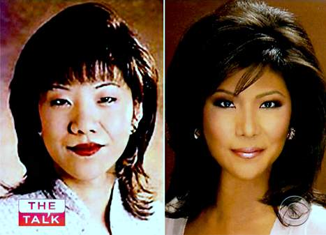 Julie Chen photos, Julie Chen plastic surgery, cosmetic surgery, Julie Chen cosmetic surgery, Julie Chen double eyelid surgery, nose job