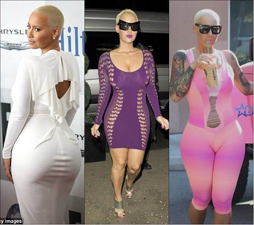 amber rose plastic surgery, amber rose before plastic surgery, amber rose before and after, amber rose butt implants, amber rose breast implants